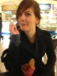 Trying my first italian gelato! Photo Credit: Matteo