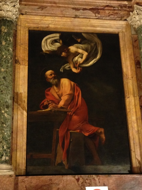 The inspiration of Saint Matteo - by Caravaggio